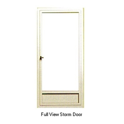 Aluminum Mobile Home White Full View Storm Door