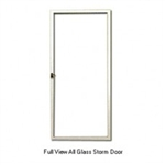 Aluminum Mobile Home White Full View All Glass Storm Door