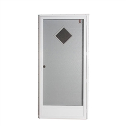 "34"" x 76"" RH Elixir Series 6000 Housetype Combo Front Door W/Diamond Window"