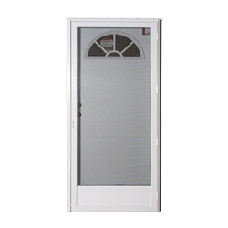 "34"" x 76"" RH Elixir Series 6000 Housetype Combo Front Door W/Fan Light Window"
