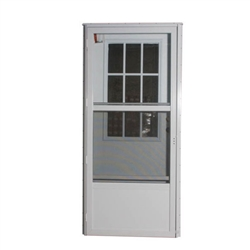 "34"" x 76"" LH Elixir Series 6000 Housetype Combo Front Door W/Cottage Window"