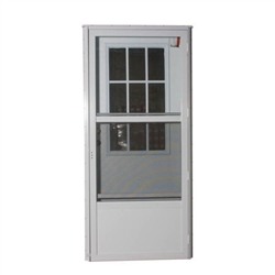 "34"" x 78"" RH Elixir Series 6000 Housetype Combo Front Door W/Cottage Window"