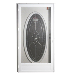 "34"" x 76"" LH Elixir Series 7000 Housetype Combo Front Door with Oval Window"