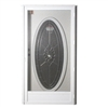"34"" x 76"" RH Elixir Series 7000 Housetype Combo Front Door with Oval Window"