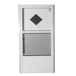 "34"" x 78"" RH Elixir Series 6000 Housetype Combo Front Door W/Diamond Window"