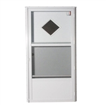 "32"" x 74"" RH Elixir Series 6000 Housetype Combo Front Door W/Diamond Window"