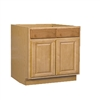 Kitchen Base Cabinet Oak 18x34.5x24