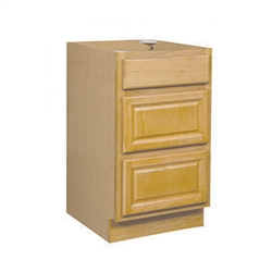 Bathroom Drawer Base Cabinet Oak 15x34.5x24