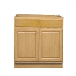 Kitchen Sink Base Cabinet Oak 33x34.5x24