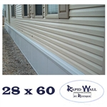 28 x 60 Rapid Wall Complete Mobile Home Insulated Skirting Package