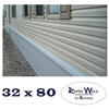 32 x 0 Rapid Wall Complete Mobile Home Insulated Skirting Package