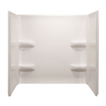 Mobile Home 54x42 3 Piece Fiberglass Surround In White