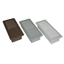 "4"" x 10"" Plastic Floor Register"