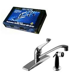 "8"" Single Lever Kitchen Faucet w/Sprayer"