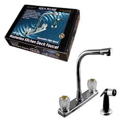 "8"" Kitchen Faucet w/High Spout & Sprayer"