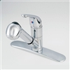 "8"" Single-Lever Pull-out Spout with Spray & Deck Plate"