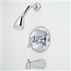 Single Lever Diverter Spout with Blade Handle Chrome