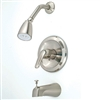 Single Lever Diverter Spout with Blade Handle Brushed Nickel