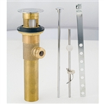All-Metal Lavatory Drain with Over Flow Chrome