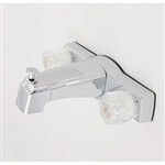 "8"" Tub/Shower Diverter w/ Crystal Handles Offset Shanks Chrome"