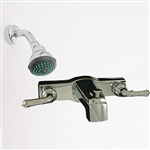 "8"" Tub/Shower Diverter w/Teapot Handles w/Shower Kit Chrome"