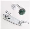 "8"" Shower Valve w/Teapot Handles w/Shower Kit Chrome"