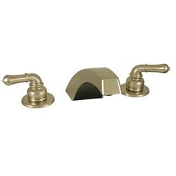 Adjustable Garden Tub Filler w/ Teapot Handles & High Arc Spout Nickel