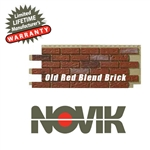 Novik Hand-Laid Old Red Blend Brick Pattern