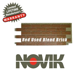 Novik Hand-Laid Red Used Blend Brick Pattern