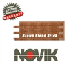 Novik Hand-Laid Brown Blend Brick Pattern