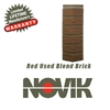 Novik Hand-Laid Red Used Blend Brick Pattern Corner