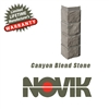 Novik Hand-Cut Canyon Blend Stone Pattern Corner
