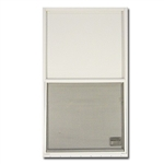 Kinro Aluminum Vertical Window - White Lap Siding Applications
