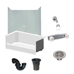 54 x 27 Mobile Home shower With 1 Piece Surround