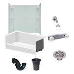 54 x 27 Mobile Home shower With 3 Piece Surround w/Corner Caddies