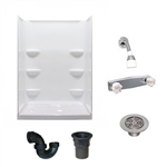 54 x 27 Mobile Home shower With 3 Piece Fiberglass Surround