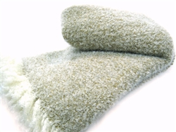 Wool and Angora Mohair Snow Blanket