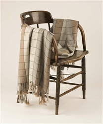 100% Baby Alpaca Throw Blanket, Our Framed Windowpane Throw / Afghan is More Durable than Cashmere