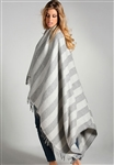 Alpaca Striped Herringbone Throw