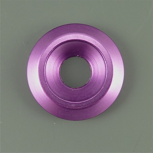 Anodized Aluminum Counter Sunk Washer 25mm Outer Diameter