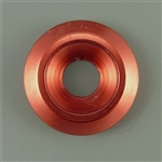Anodized Aluminum Counter sunk washer, 25mm outer diameter, red