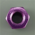 Anodized Aluminum nut, M8 (14mm outer edge measurement), purple