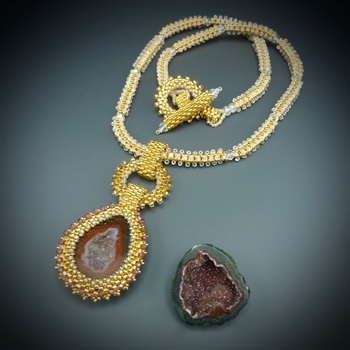 One-of-a-Kind Geode Necklace Kit, baby geode #23