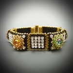 Sparkling Stones Bracelet Kit, gold & black