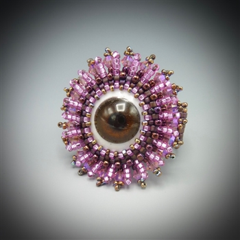 """Doll's Eye Ring"" Kit, brown eye"