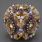 """Geo-Floral"" Beaded Bead Kit, gold & purple"