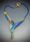 """Lightness of Being"" Necklace Kit, blue & gold"