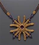 X Marks the Spot Necklace Kit, gold & plum