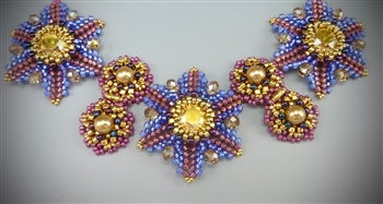 Renaissance Revival Necklace Kit, All New! Pink, Periwinkle & Gold