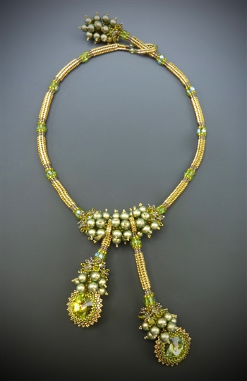 Vineyard Jewel Necklace Kit, gold & green